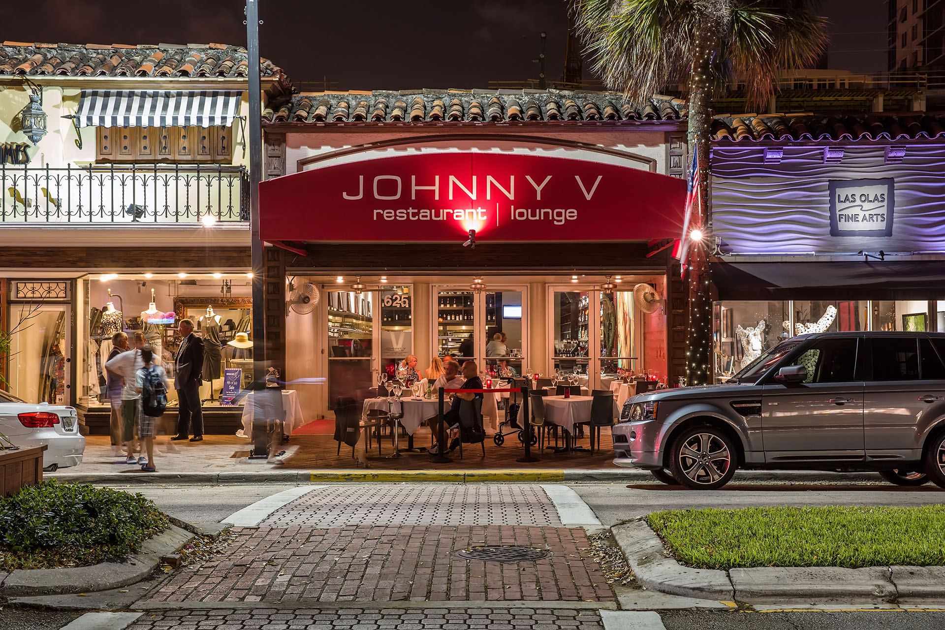 Johnny V at night